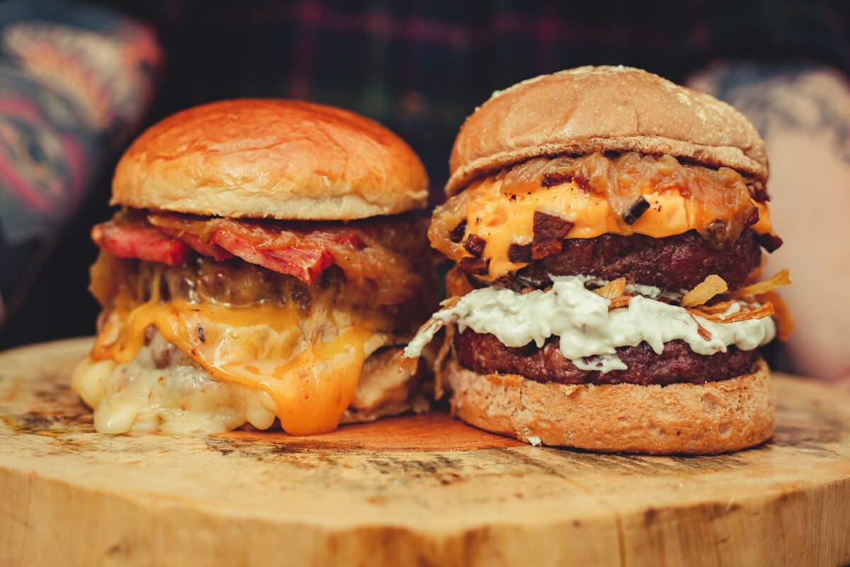 Image of burgers conveying ease of finding the Best Burger Restaurants around me using SpotBie.